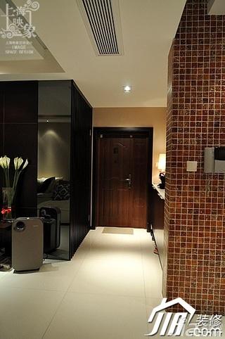 简约风格三居室时尚富裕型130平米门厅瓷砖白领家装图片