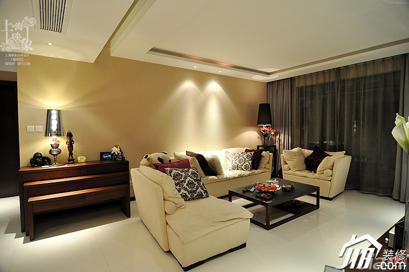 简约风格三居室时尚富裕型130平米客厅沙发白领家装图
