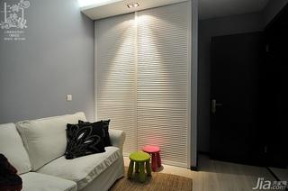 简约风格三居室时尚富裕型130平米客厅窗帘白领家装图片