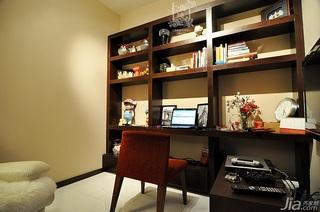 简约风格三居室时尚富裕型130平米书房书桌白领家装图片