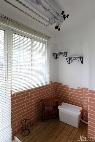 田园风格一居室温馨白色富裕型80平米窗户效果图