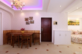 田园风格一居室温馨白色富裕型80平米餐厅壁纸效果图