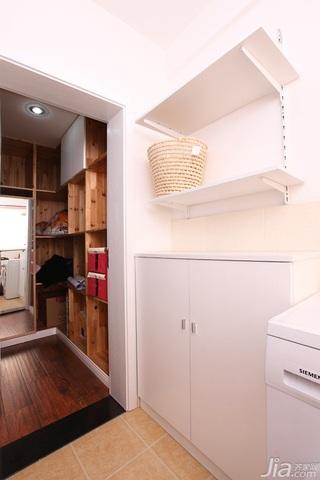 一居室温馨白色富裕型50平米过道地板效果图