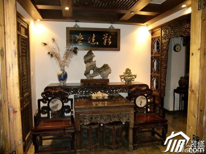 中式风格小户型实用经济型90平米客厅背景墙沙发图片