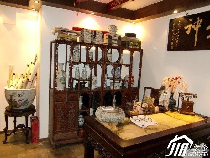 中式风格小户型实用经济型90平米书房书桌图片
