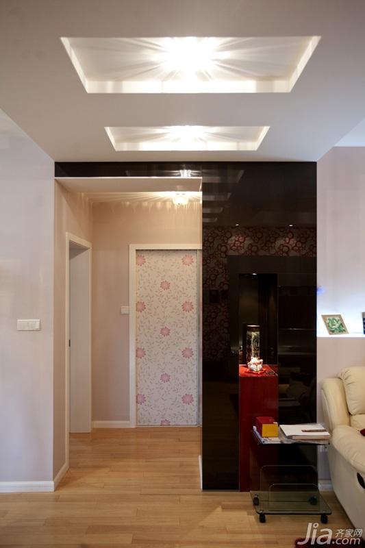 宜家风格公寓时尚富裕型玄关过道装修效果图