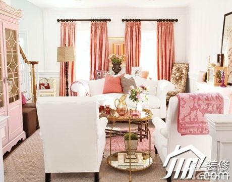 简约风格公寓温馨10-15万90平米客厅沙发效果图
