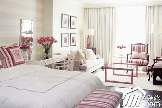 简约风格公寓温馨10-15万90平米卧室背景墙床效果图