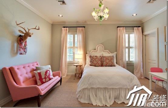 简约风格公寓温馨10-15万90平米卧室床效果图