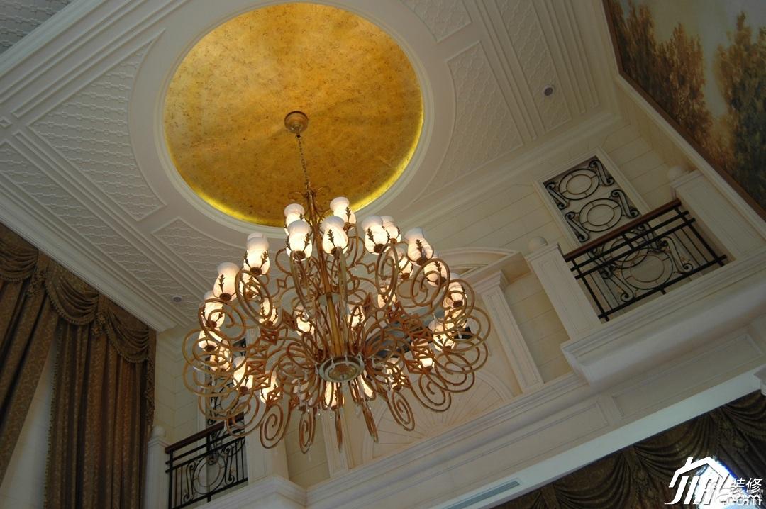 奢华,白色装修,欧式风格,别墅装修,富裕型装修,客厅,吊顶,灯