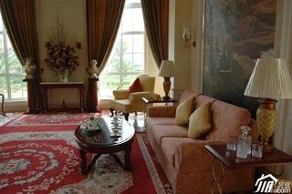欧式风格别墅奢华白色富裕型客厅沙发效果图