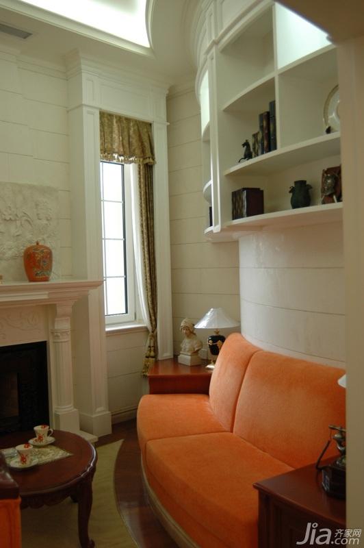 欧式风格别墅奢华白色富裕型沙发效果图