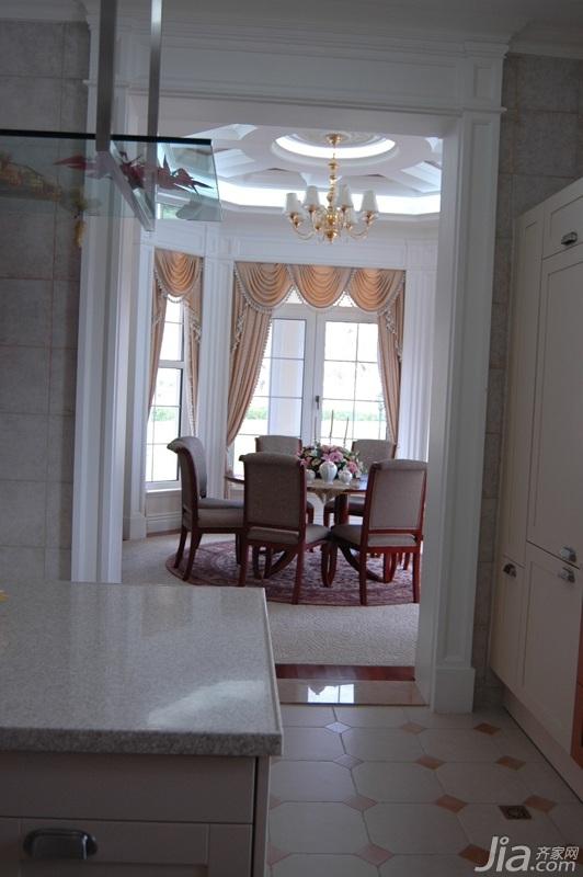 欧式风格别墅奢华白色富裕型餐厅橱柜设计图