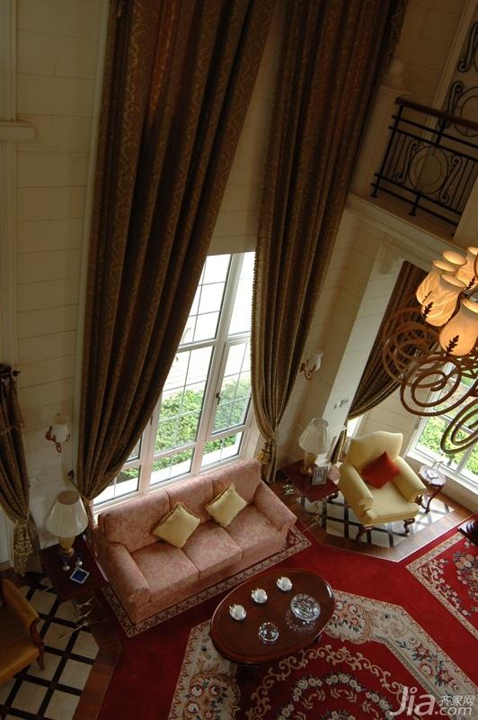 奢华,白色装修,欧式风格,别墅装修,富裕型装修,客厅,沙发,茶