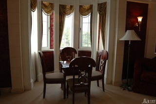 欧式风格别墅奢华白色富裕型阳台窗帘图片