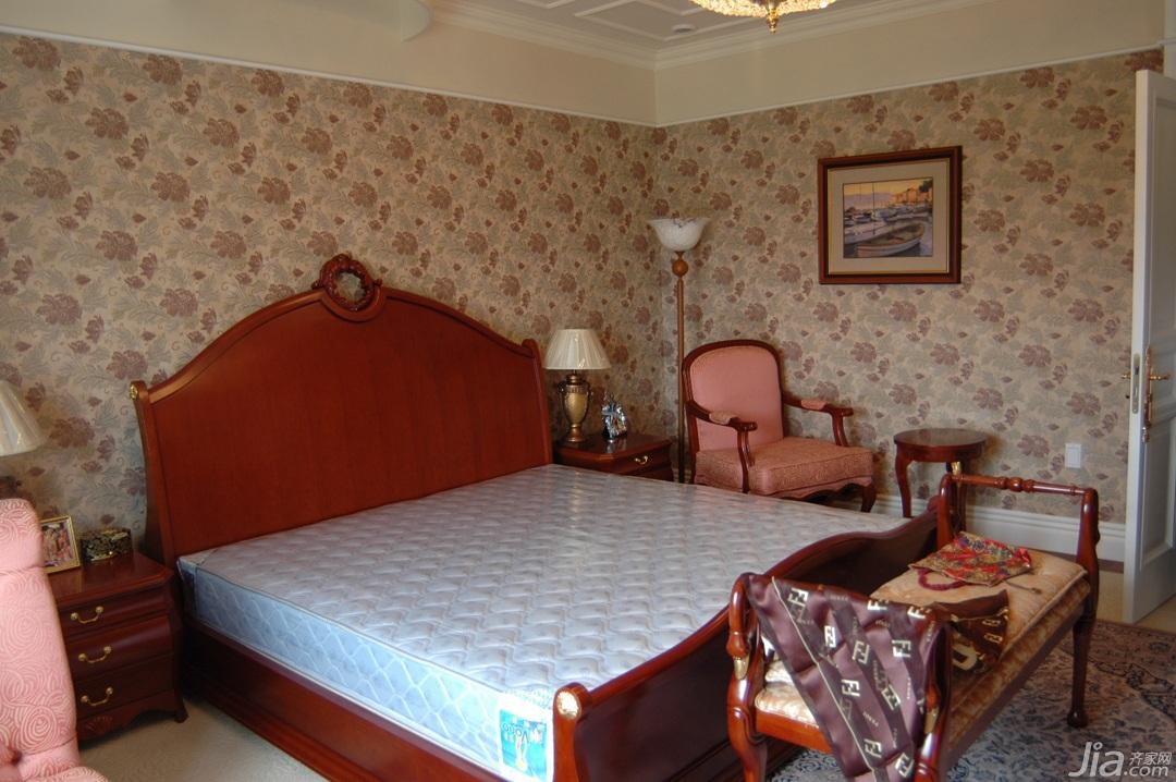 欧式风格别墅奢华白色富裕型卧室床效果图