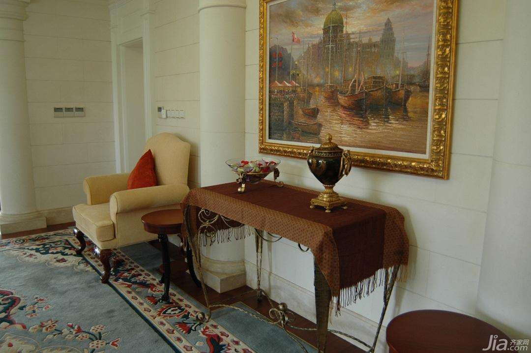 奢华,白色装修,欧式风格,别墅装修,富裕型装修,地毯,装饰画,边