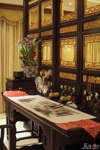 混搭风格公寓古典原木色豪华型客厅隔断效果图