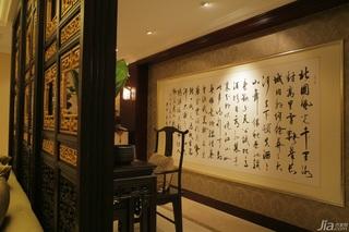 混搭风格公寓古典原木色豪华型客厅隔断装修效果图
