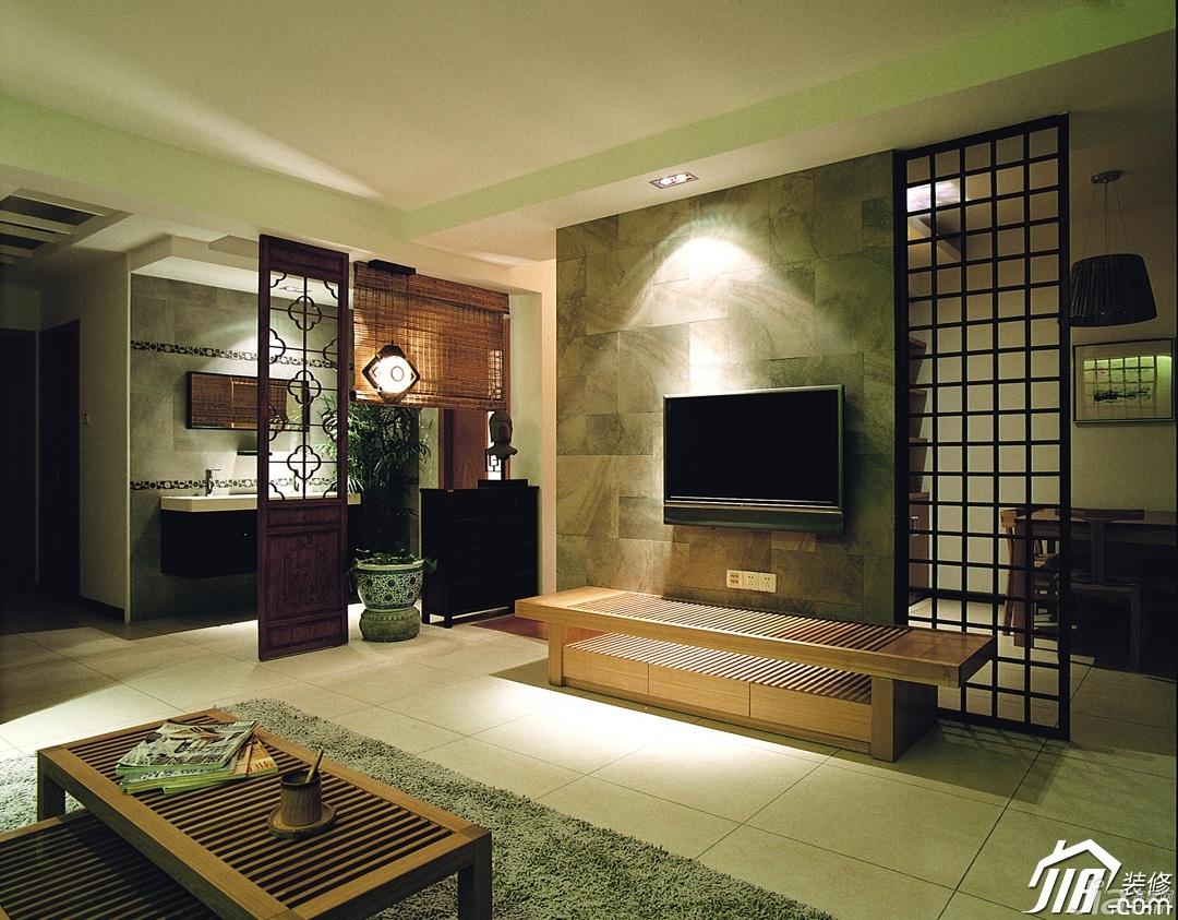 宜家风格公寓大气冷色调富裕型客厅玄关隔断沙发图片