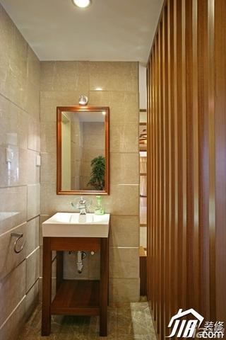 中式风格四房古典米色富裕型主卫洗手台效果图