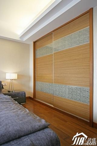 中式风格四房古典米色富裕型卧室隔断装修效果图