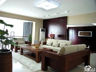 中式风格公寓大气原木色豪华型140平米以上客厅沙发背景墙沙发效果图