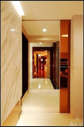 中式风格公寓大气原木色豪华型140平米以上客厅过道装修图片