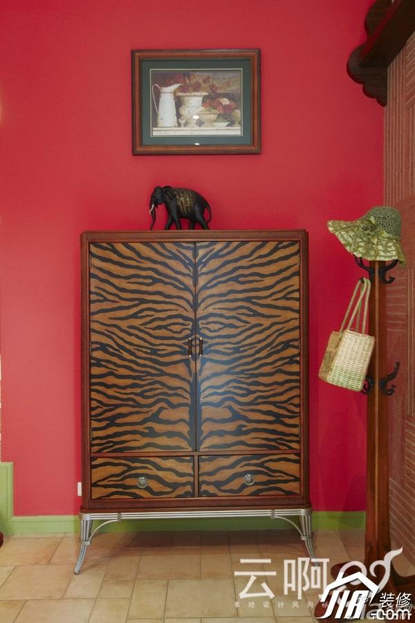 混搭风格别墅奢华红色富裕型效果图