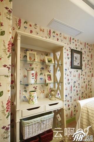 混搭风格别墅奢华红色富裕型卧室收纳柜效果图