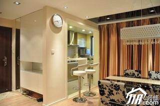 简约风格小户型大气暖色调富裕型80平米吧台吧台椅婚房家装图