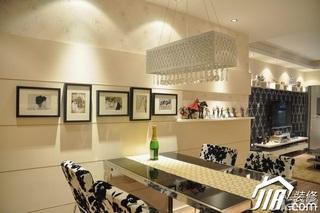 简约风格小户型大气暖色调富裕型80平米餐厅餐厅背景墙灯具婚房平面图