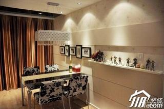 简约风格小户型大气暖色调富裕型80平米餐厅餐厅背景墙餐桌婚房平面图