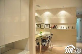 简约风格小户型大气暖色调富裕型80平米餐厅餐厅背景墙餐桌婚房家装图