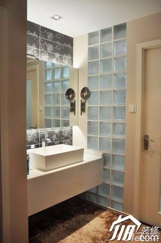简约风格小户型大气暖色调富裕型80平米主卫洗手台婚房平面图