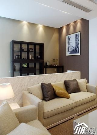 简约风格别墅稳重黄色富裕型客厅沙发图片