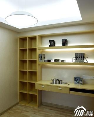 简约风格别墅稳重黄色富裕型书房书桌图片