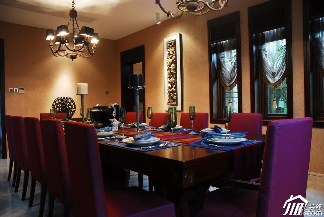 欧式风格别墅奢华豪华型140平米以上餐厅餐桌效果图