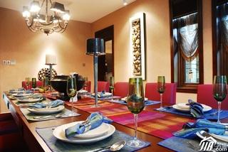 欧式风格别墅奢华褐色豪华型140平米以上餐厅餐桌效果图