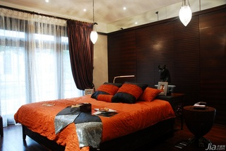 欧式风格别墅奢华褐色豪华型140平米以上卧室床效果图