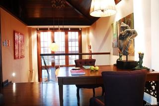 欧式风格别墅奢华褐色豪华型140平米以上阁楼书桌效果图