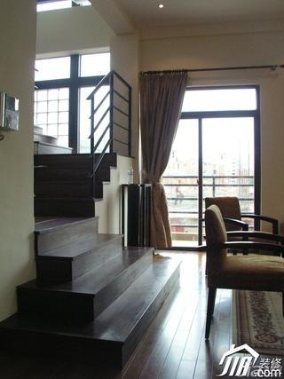 别墅温馨豪华型140平米以上楼梯地毯效果图
