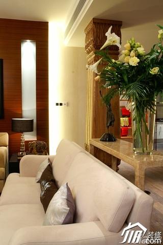 简约风格别墅温馨暖色调豪华型140平米以上客厅沙发效果图