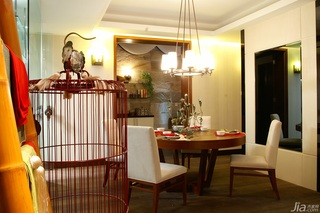 简约风格别墅温馨暖色调豪华型140平米以上餐厅餐桌效果图