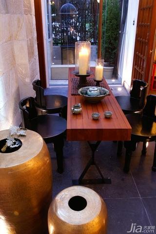 简约风格别墅温馨暖色调豪华型140平米以上茶室装修效果图