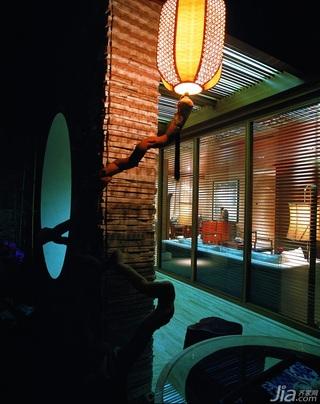 混搭风格别墅古典原木色豪华型140平米以上隔断壁灯效果图