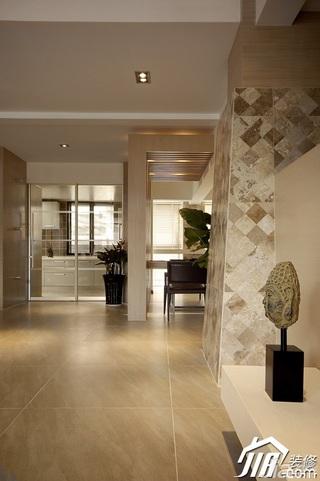 混搭风格公寓冷色调富裕型客厅隔断装修图片