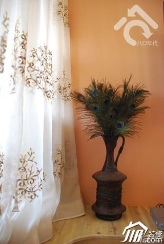 田园风格小户型可爱暖色调经济型40平米窗帘效果图