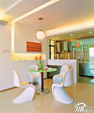 公寓时尚豪华型120平米餐厅客厅隔断灯具图片