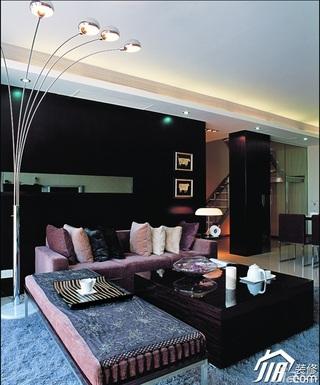 新古典风格复式稳重豪华型140平米以上客厅沙发效果图
